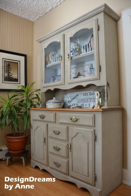 farmhouse china cabinet makeover, furniture furniture revivals, home decor, painting, and the finished look