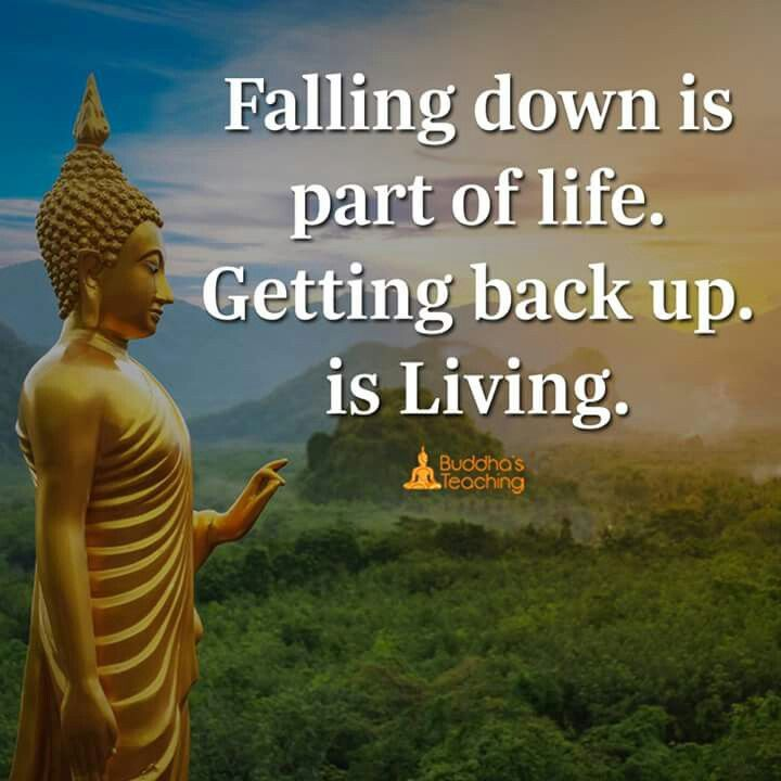 Quotes On Falling And Getting Back Up: Falling Down Is Part Of Life But Getting Back Up Is Living