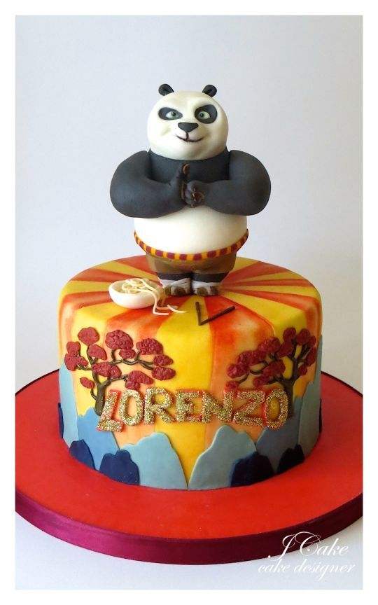 Kung Fu Panda Cake Cakes Cupcakes Pinterest Kung Fu Panda