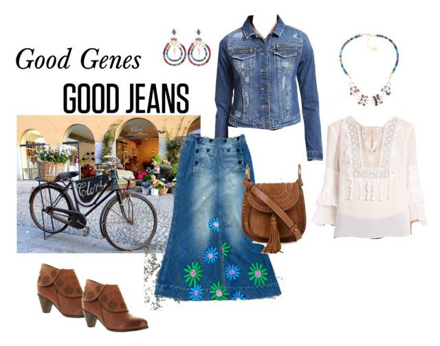 """Good Jeans Good Genes"" by beckyarender ❤ liked on Polyvore featuring Mavi, Chloé, Anton Heunis, Elie Tahari, Spring Step, women's clothing, women, female, woman and misses"