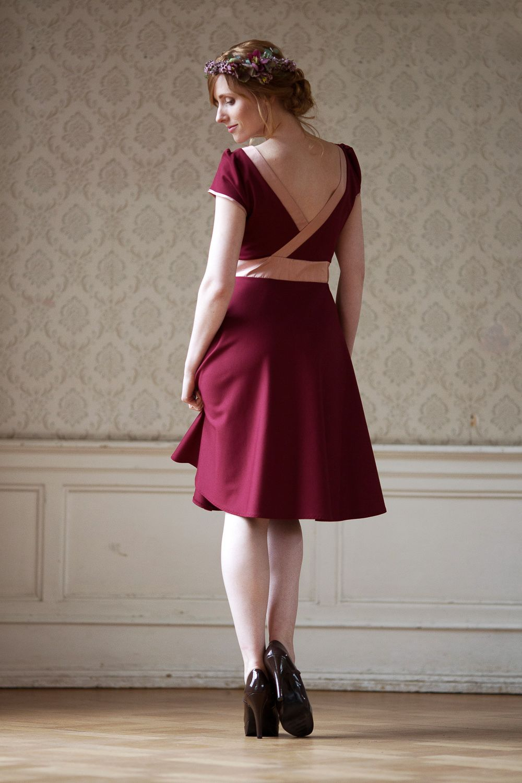 Labude Festliches Kleid Livia in bordeaux Elegantes Kleid ...