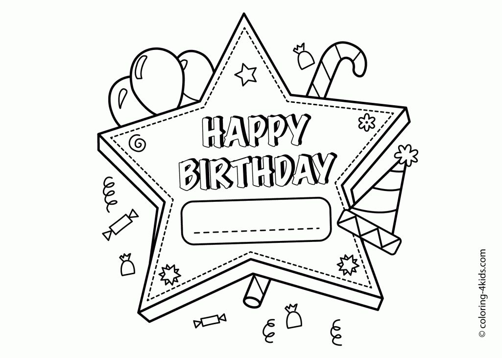 Disney Birthday Coloring Pages Happy Birthday Princess