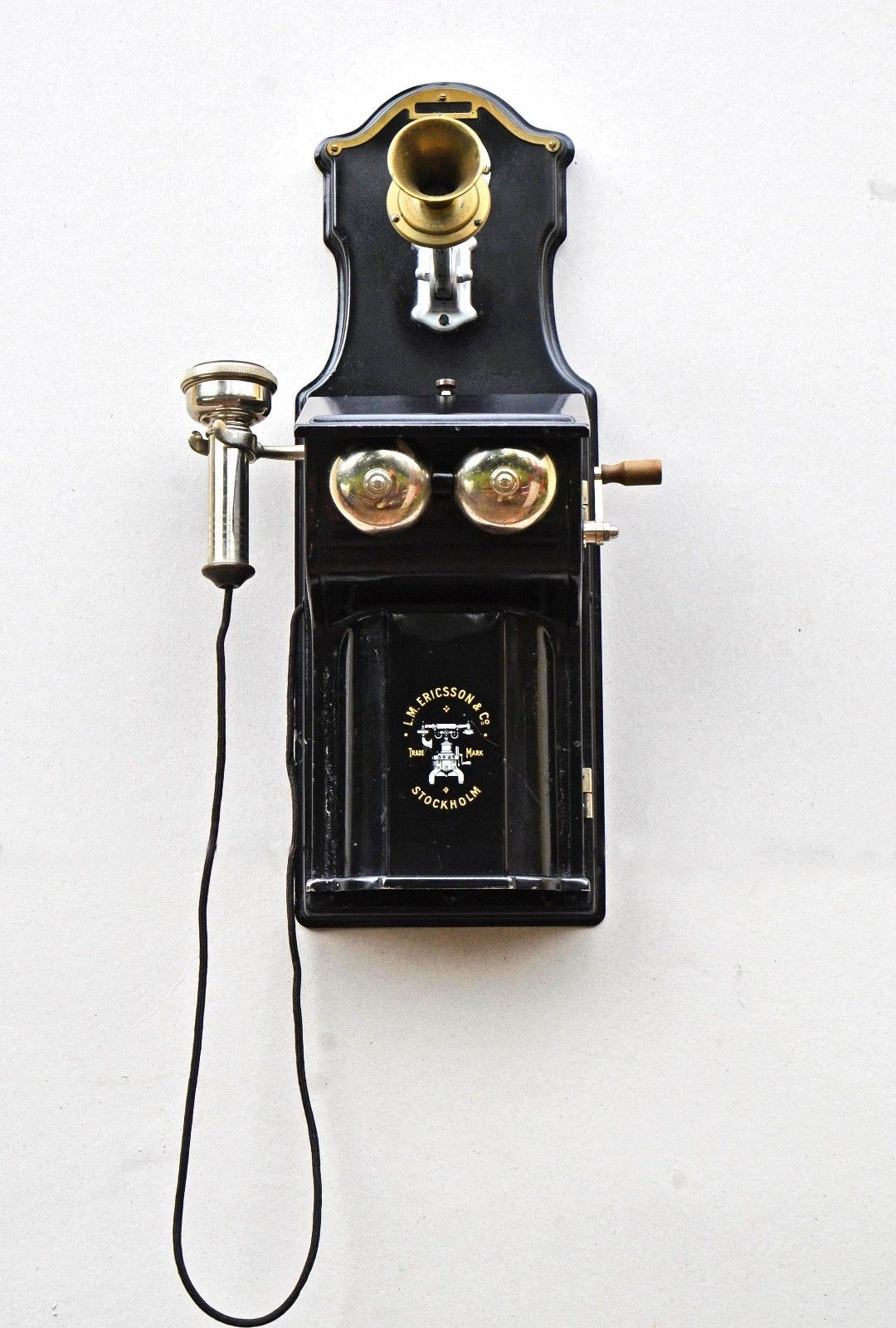 hight resolution of antique wall telephone lm ericsson stockholm c 1895 ebay