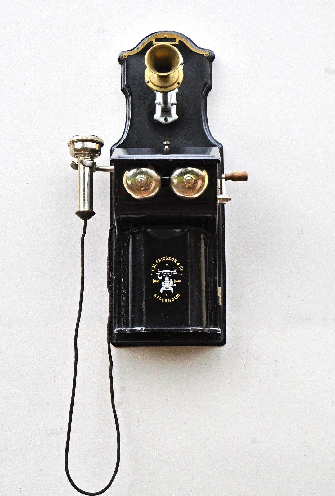 antique wall telephone lm ericsson stockholm c 1895 ebay [ 1080 x 1600 Pixel ]