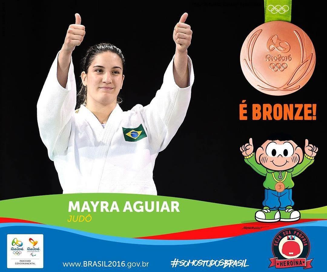 Ela garantiu mais uma medalha para o Brasil e repete o feito de Londres com um bronze! Parabéns @mayraaguiarjudo   #TorcerPeloBrasil! #DonasDaRua #Br2016 #SomosTodosBrasil #agentenaoquersocomida #avidaquer @avidaquer por @samegui
