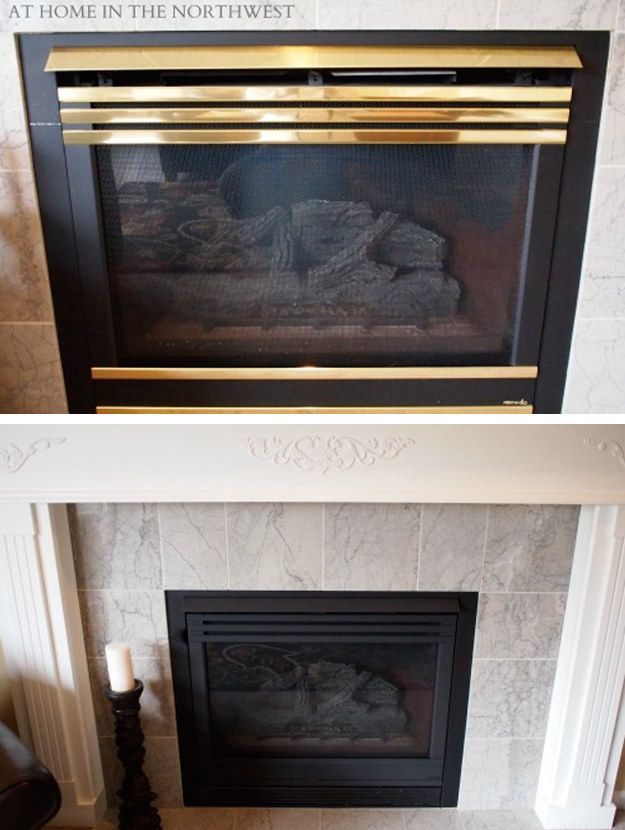 Pull Your Br Fireplace Out Of The 1980s With A Coat High Heat Spray Paint