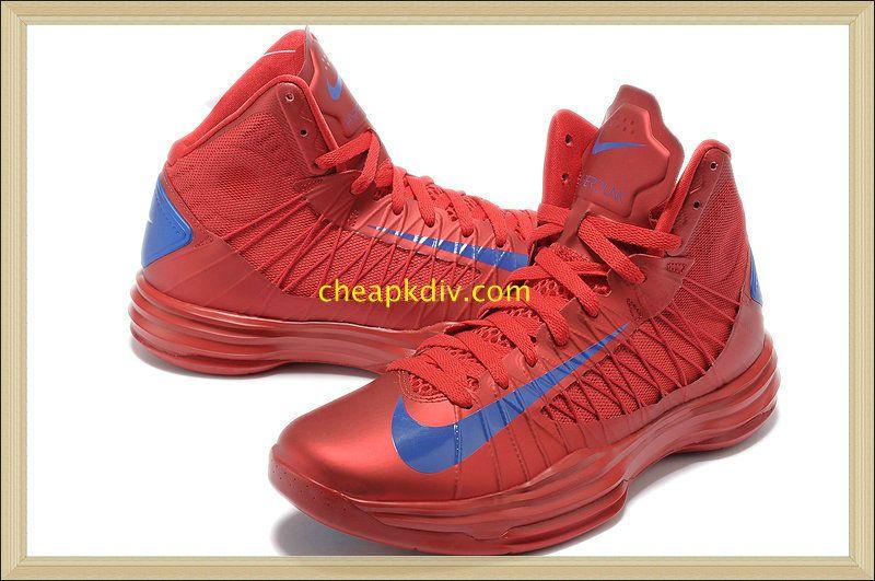 Hyperdunk 2013 Lebron Nike Lunar Hyperdunks X Puerto Rico Olympic Away  University Red Royal Blue 535359