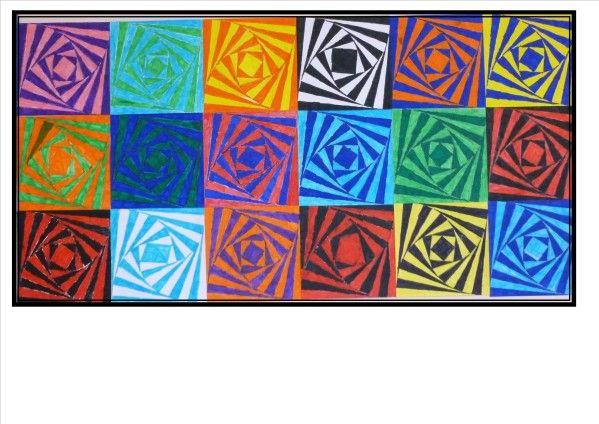 En charge des arts visuels et de la géométrie dans ma classe de du lundi,  j\u0027ai travaillé avant les vacances sur les illusions d\u0027optique. Voici ce .