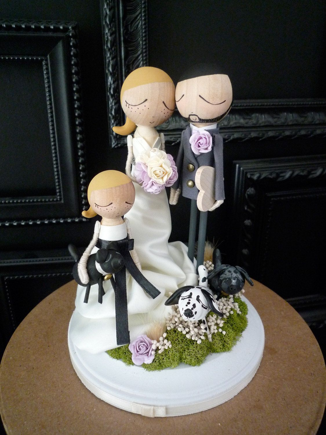 wedding cake topper with child family wedding cake topper with custom wedding dress and 26657