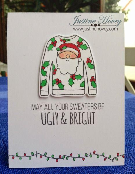Ugly Christmas Sweater Card Ugly Sweater Simon Says Stamp