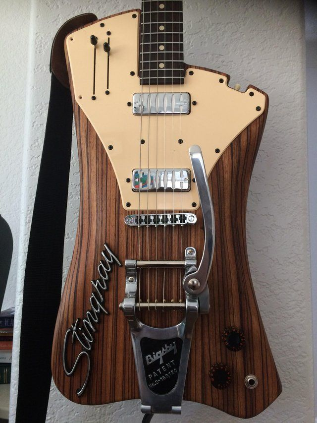 A Guitar I Made From African Zebrawood Luthier Guitar Inlay Bass Guitar Cool Guitar