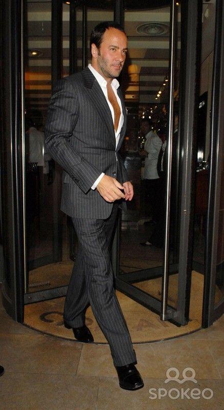 Tom Ford leaving Cipriani restaurant   Tom Ford   Men s Fashion ... 108566c4b323