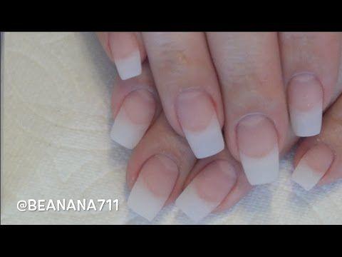 Gel Nails With Natural Tips Full Tutorial Soakable Builder Gel Beanana711 Youtube Builder Gel Nails Gel Nails Diy Gel Nail Tutorial