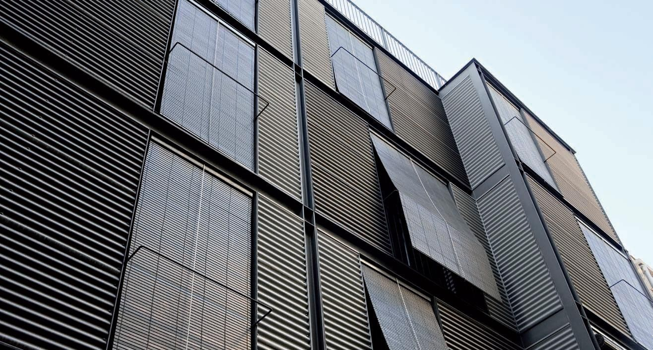 Building Cladding Panels : Metal facade cladding corrugated zinc sheet vmz profil