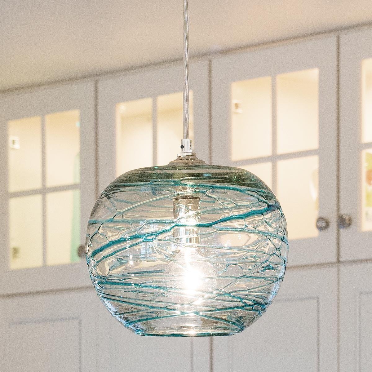 Swirling Glass Globe Mini Pendant Light Glass Pendant Light
