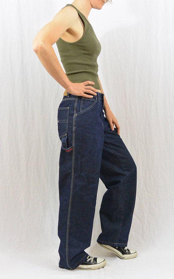 7648889b Vintage Tommy Hilfiger Painter Jeans, Carpenter Jeans, Work Clothing ...
