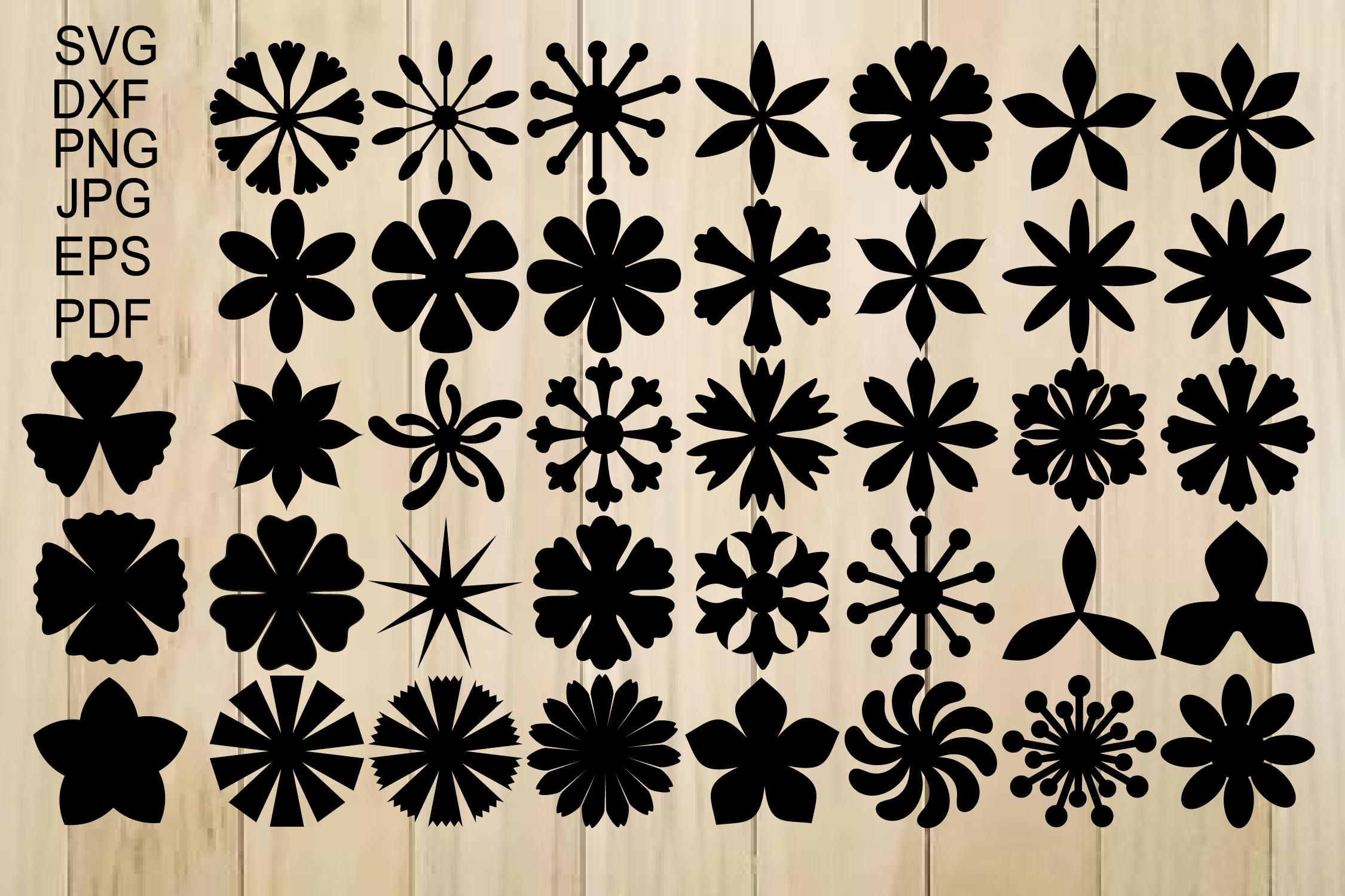 Paper Flower Templates Svg Flower Center Svg Origami Flower