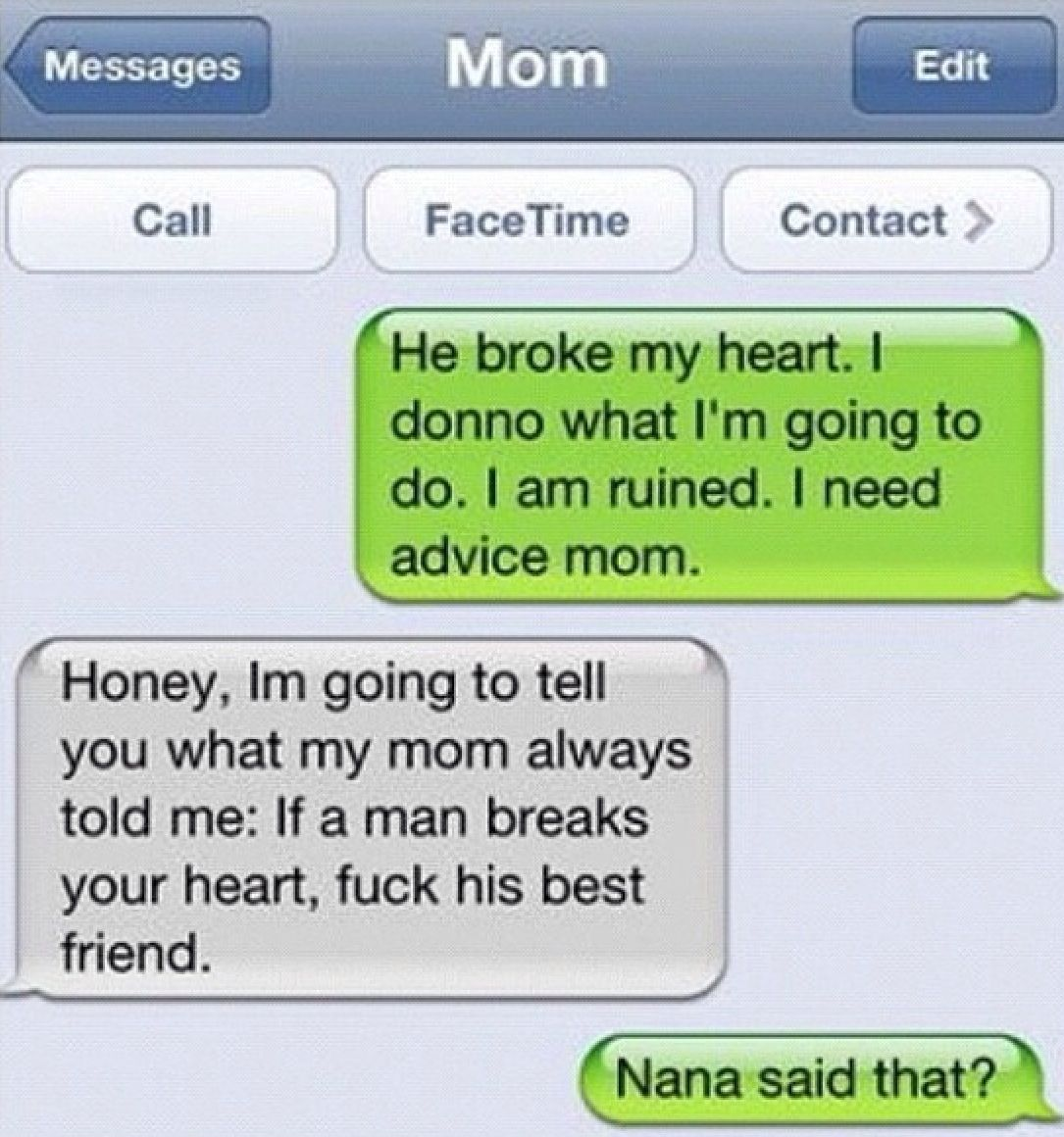 breakup advice haha it works!! best friend isn't an option. either