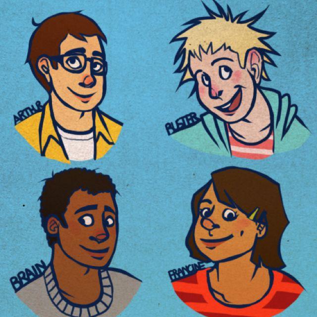 Arthur characters as human teenagers. Brain is a hunk