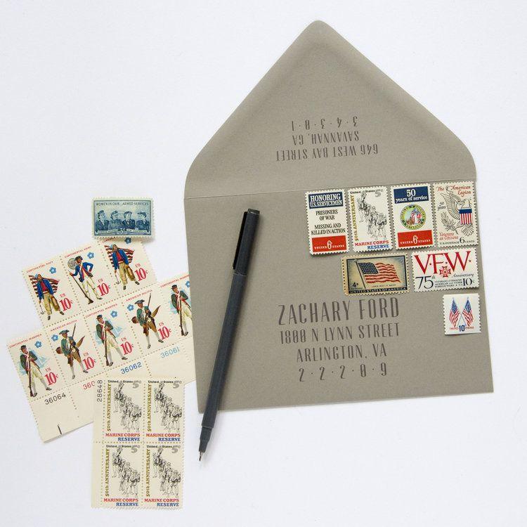 Military Vintage Stamp Set Vintage stamps, Stamp, Stamp set