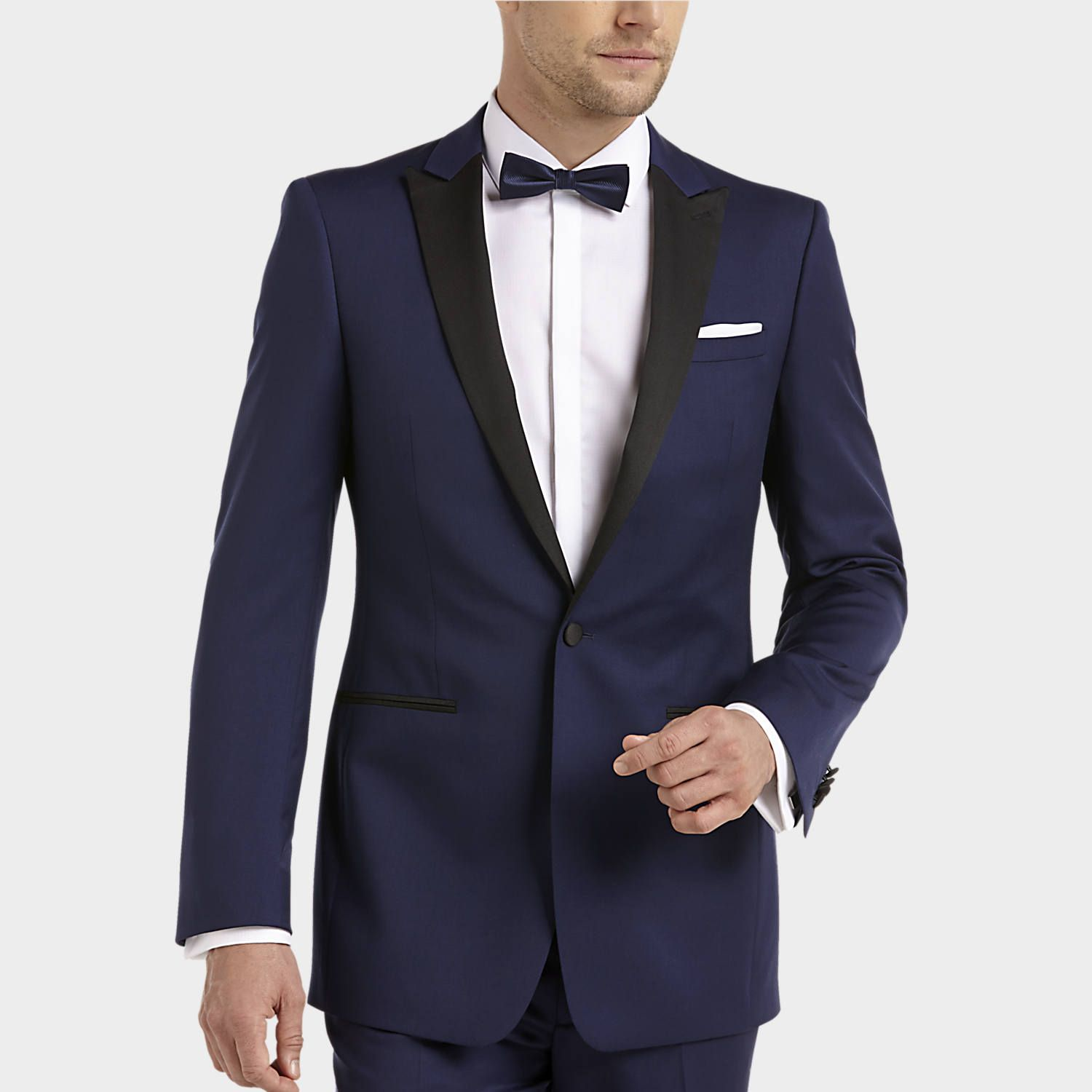 Buy Calvin Klein Blue & Black Extreme Slim Fit Tuxedo and other Navy ...