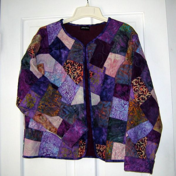 Crazy Quilt Jacket | patchweare | Pinterest | Quilted jacket ... : quilted sweatshirt jacket instructions - Adamdwight.com