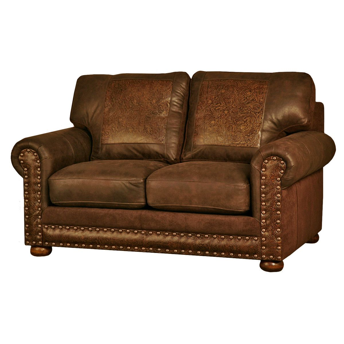 Rancher Stallone Timber Loveseat Western Furniture Love Seat