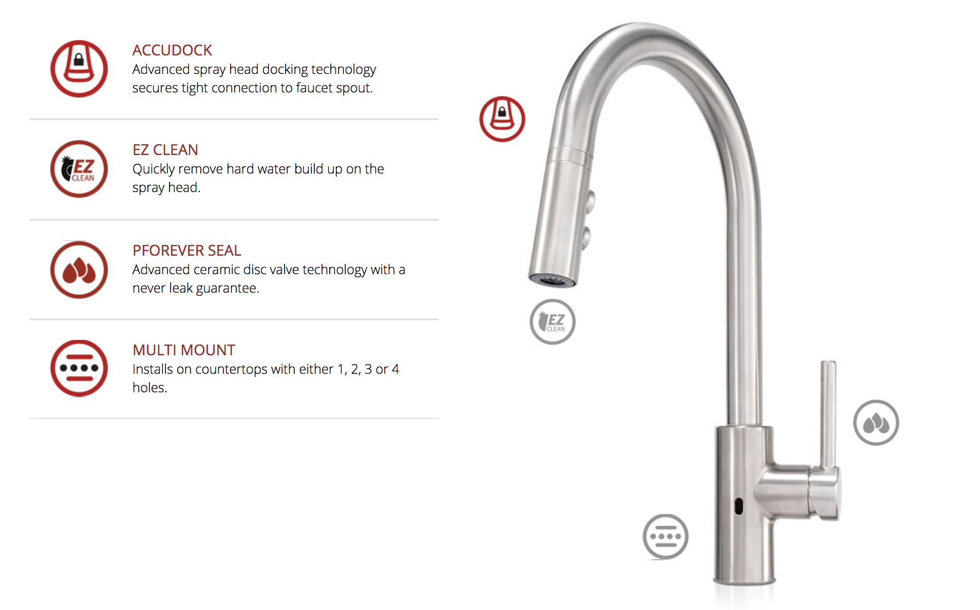 Features   Pfister REACT™ Touch-Free Faucets https://www ...