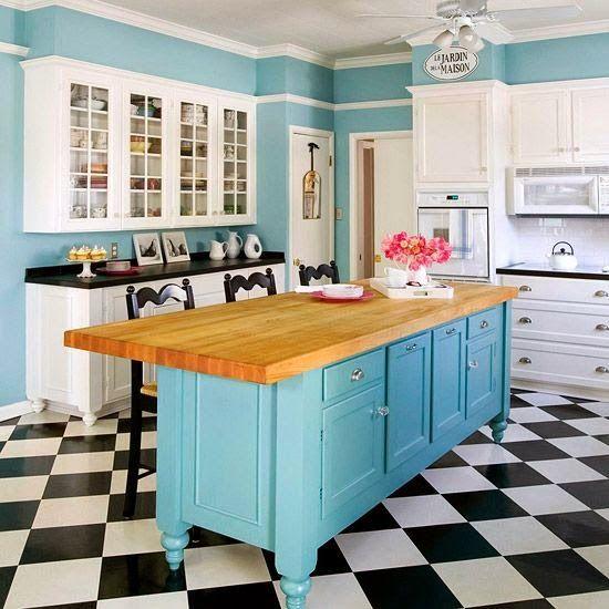 Las 19 islas de cocina vintage que te encantaría tener en tu casa ...