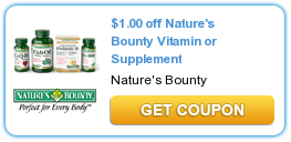 1 00 Off Nature S Bounty Vitamin Or Supplement Coupon With Images