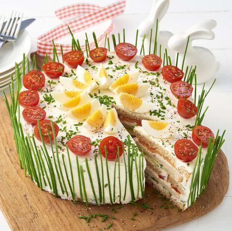 Frischkase Lachs Torte Rezept Ideen Furs Essen Lachstorte Rezepte