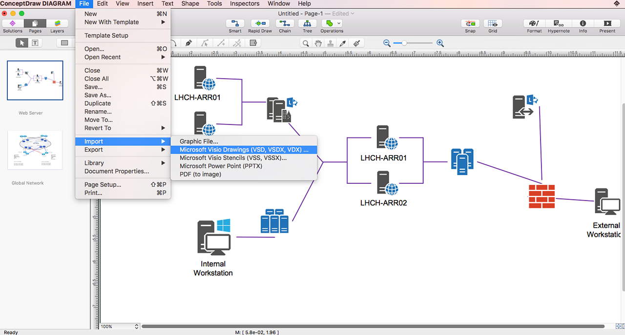 Conceptdraw Diagram V12 Is An Excellent Alternative To Ms Visio On Macos And Windows Diagram Networking Business Graphics