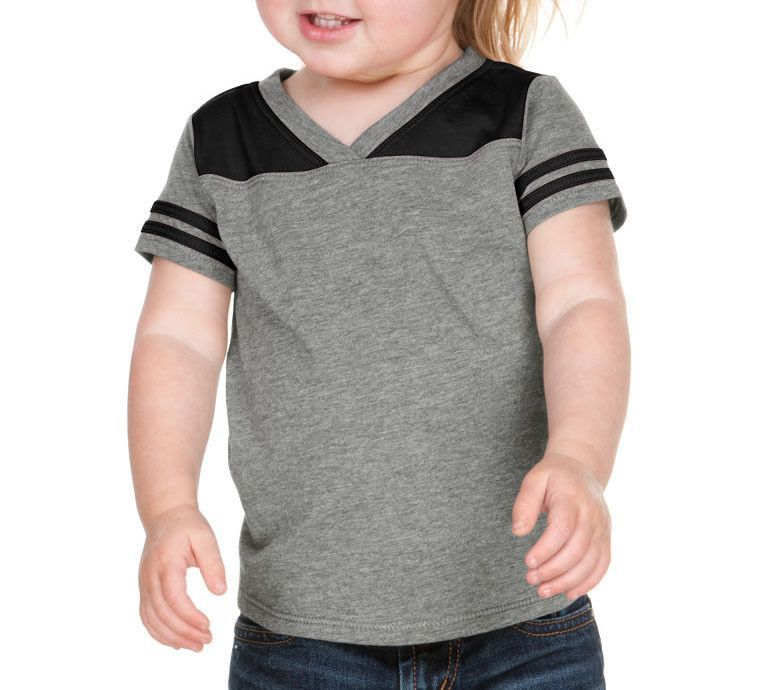 b6804f46e5d0 KAVIO Unisex Infants Sheer Jersey V Neck Football Tee Style  IJP0604 ...