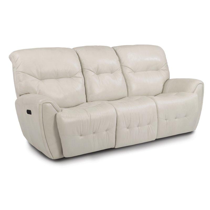 Awe Inspiring Icelandic White Leather Match Power Living Room Set Blaise Frankydiablos Diy Chair Ideas Frankydiabloscom
