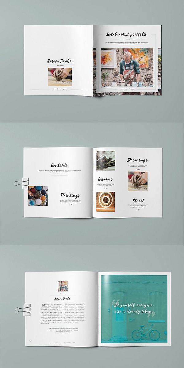 botak artist portfolio portfolio lookbook brochure template