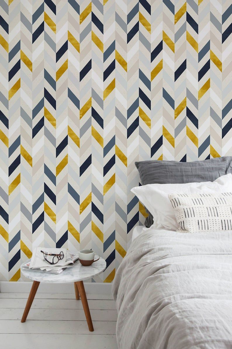 Removable Wallpaper Peel And Stick Wallpaper Wall Paper Wall Mural Chevron Wallpaper A104 In 2021 Herringbone Wallpaper Removable Wallpaper Chevron Wallpaper