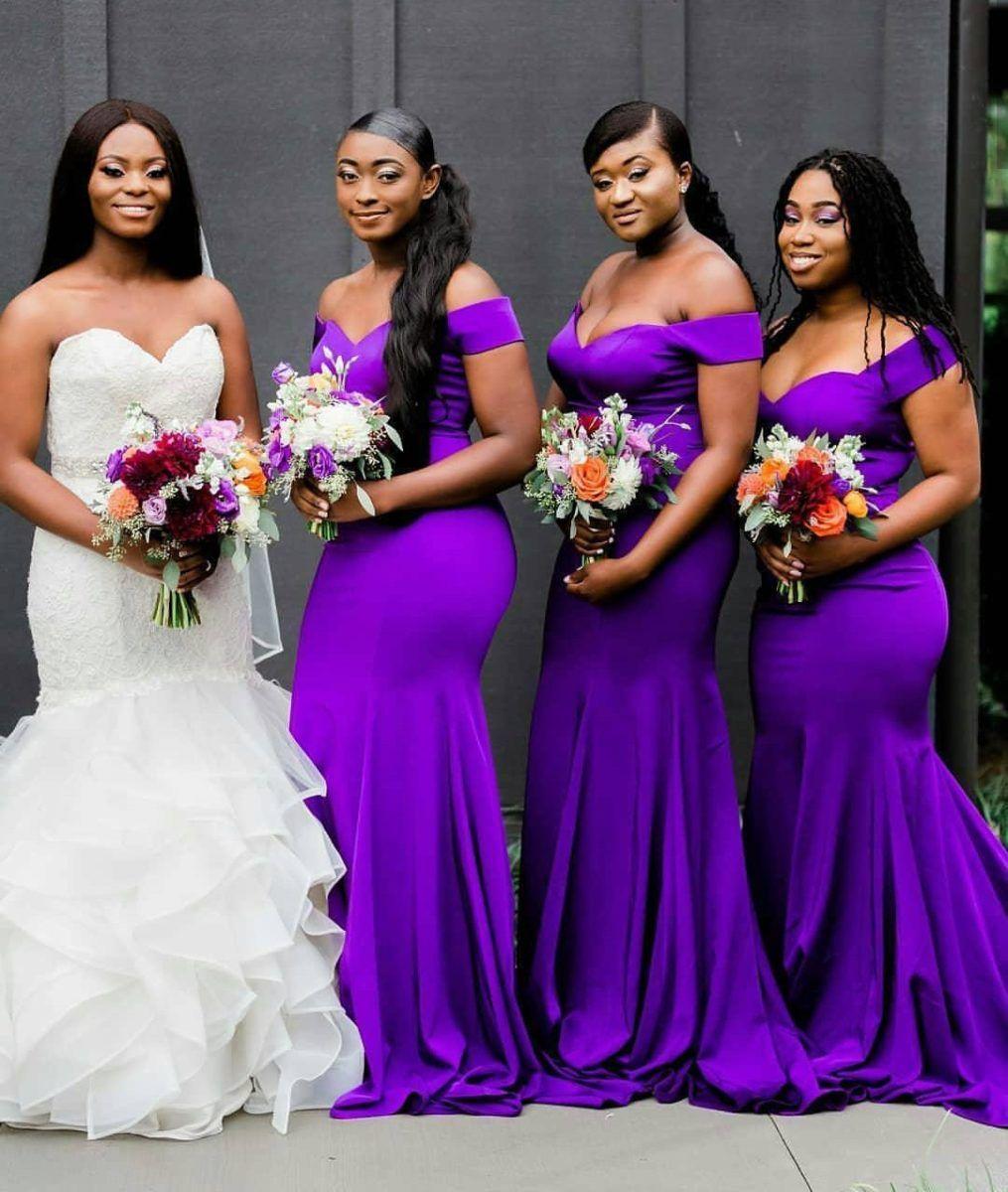 Awesome Bridal Train Wedding Dresses Looking Fabulous In 2020 Dark Purple Bridesmaid Dresses Purple Bridesmaid Dresses Bridesmaid Dresses