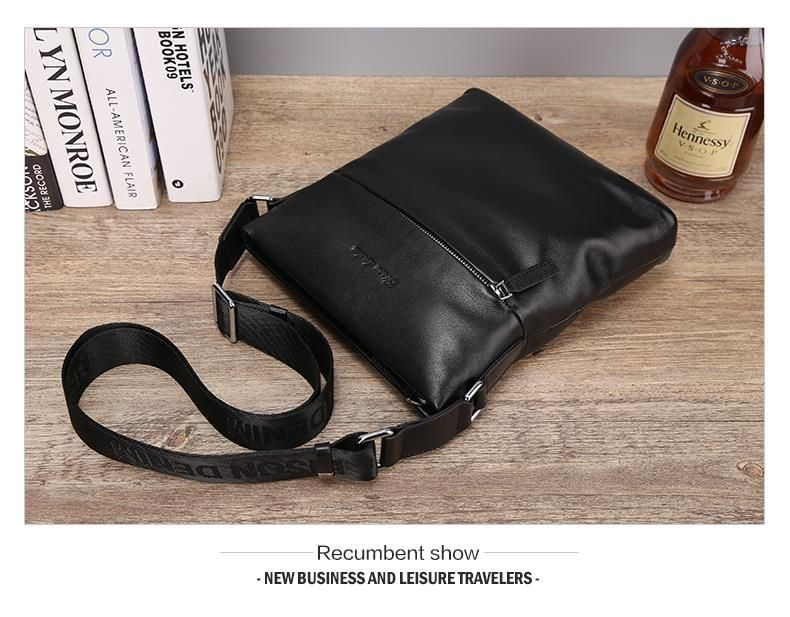 Bison Denim Top cowhide Genuine leather Mens Messenger Bag Small Casual Shoulder Bag Black-in Totes from Luggage & Bags on Aliexpress.com | Alibaba Group