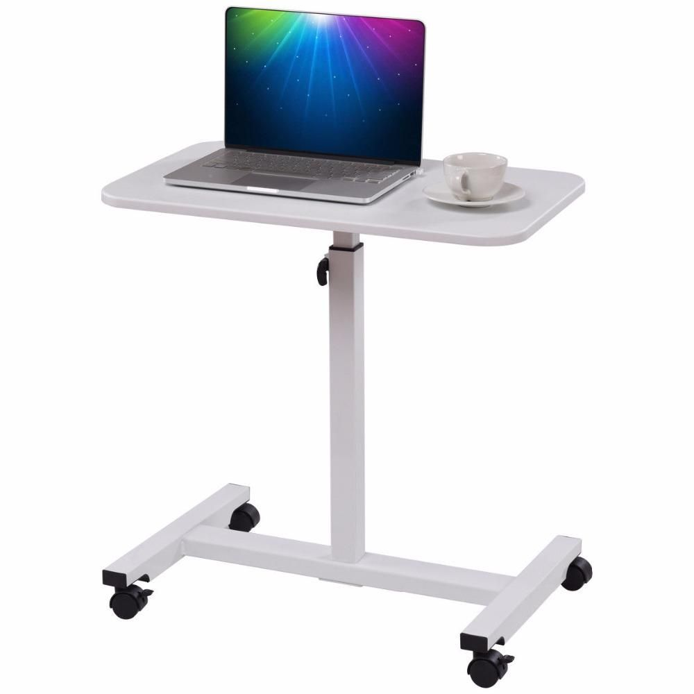 Wooden Rolling Computer Laptop Notebook Pc Workstation Desk With Pull Out Keyboard Tray Printer Shelf Home Office Free Standin Desk Pc Desk Office Workstations
