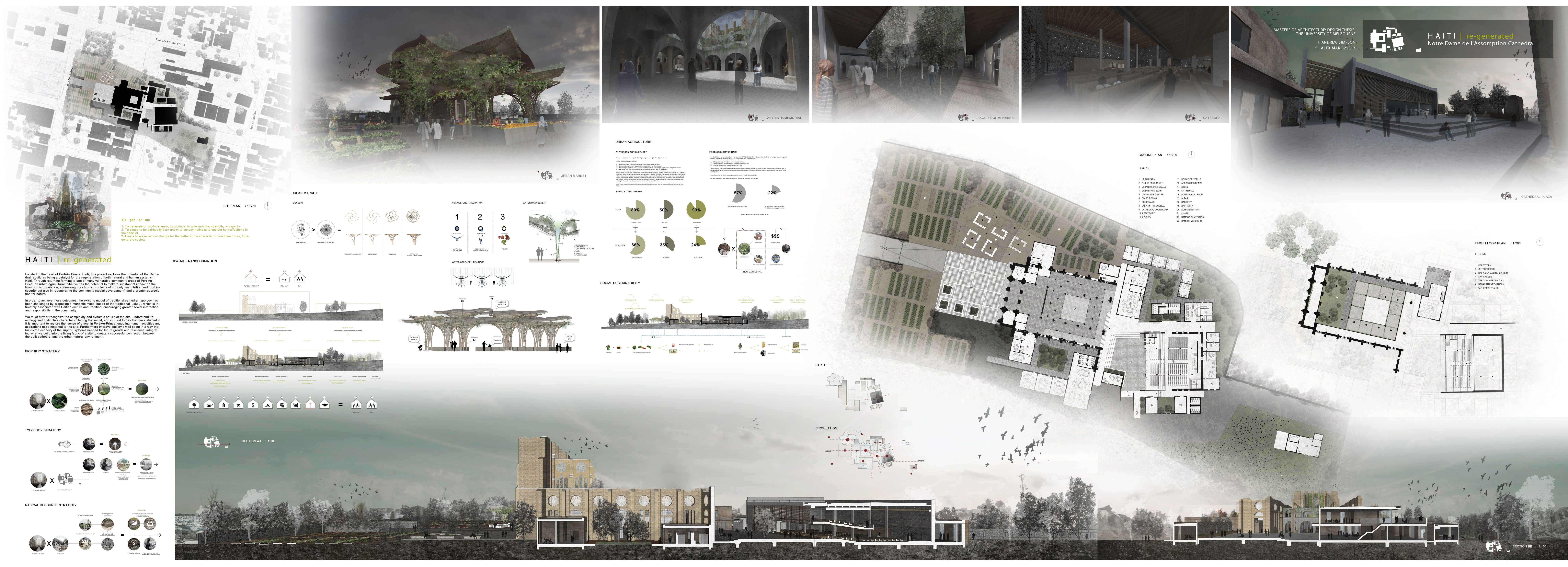 13 architecture design presentation images architecture for Architectural layout of a house