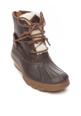 b9a46f899c61 Sperry Women s Saltwater Wedge Boot Tide Fur Brown - Brown - 6.5M