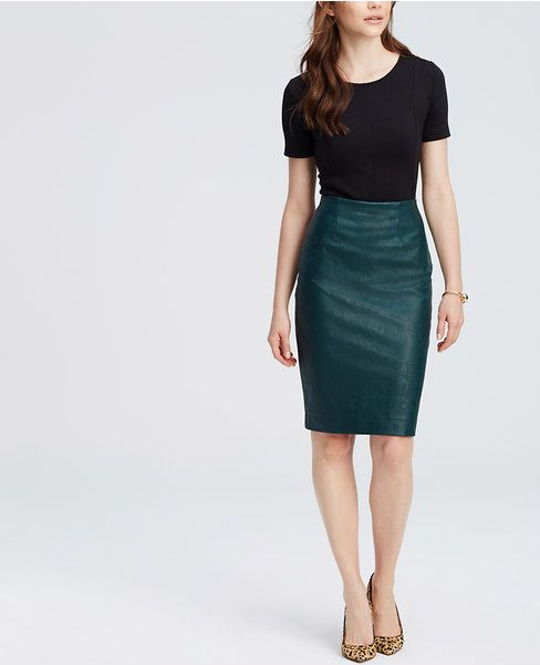 f8c9562b1 Primary Image of Faux Leather Pencil Skirt | Stitch Fix | Faux ...