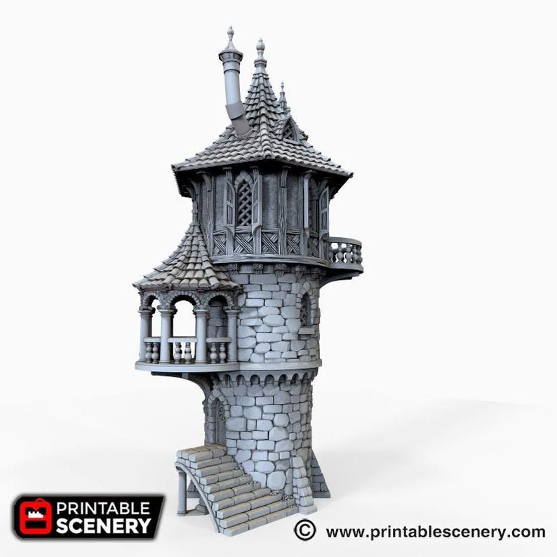 The Lost Islands Wizard Tower 15mm 28mm 32mm Wargaming Etsy Fantasy House Tower Wargaming Terrain