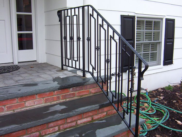 Railing Idea For Front Concrete Steps To Driveway Front