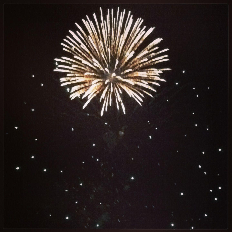 Evening fireworks over Leo