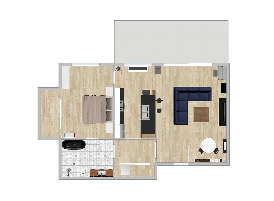 Apartment Floor Plans  810 Sq Ft  1 Bed 1 Bath   222 Sq Ft