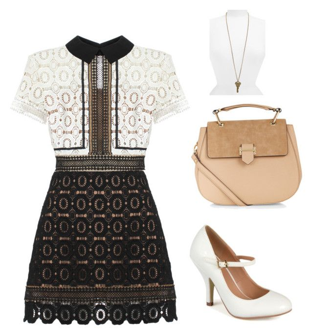 """""""The Key"""" by kate-g-newton on Polyvore featuring self-portrait, Accessorize, Journee Collection, The Giving Keys, women's clothing, women's fashion, women, female, woman and misses"""