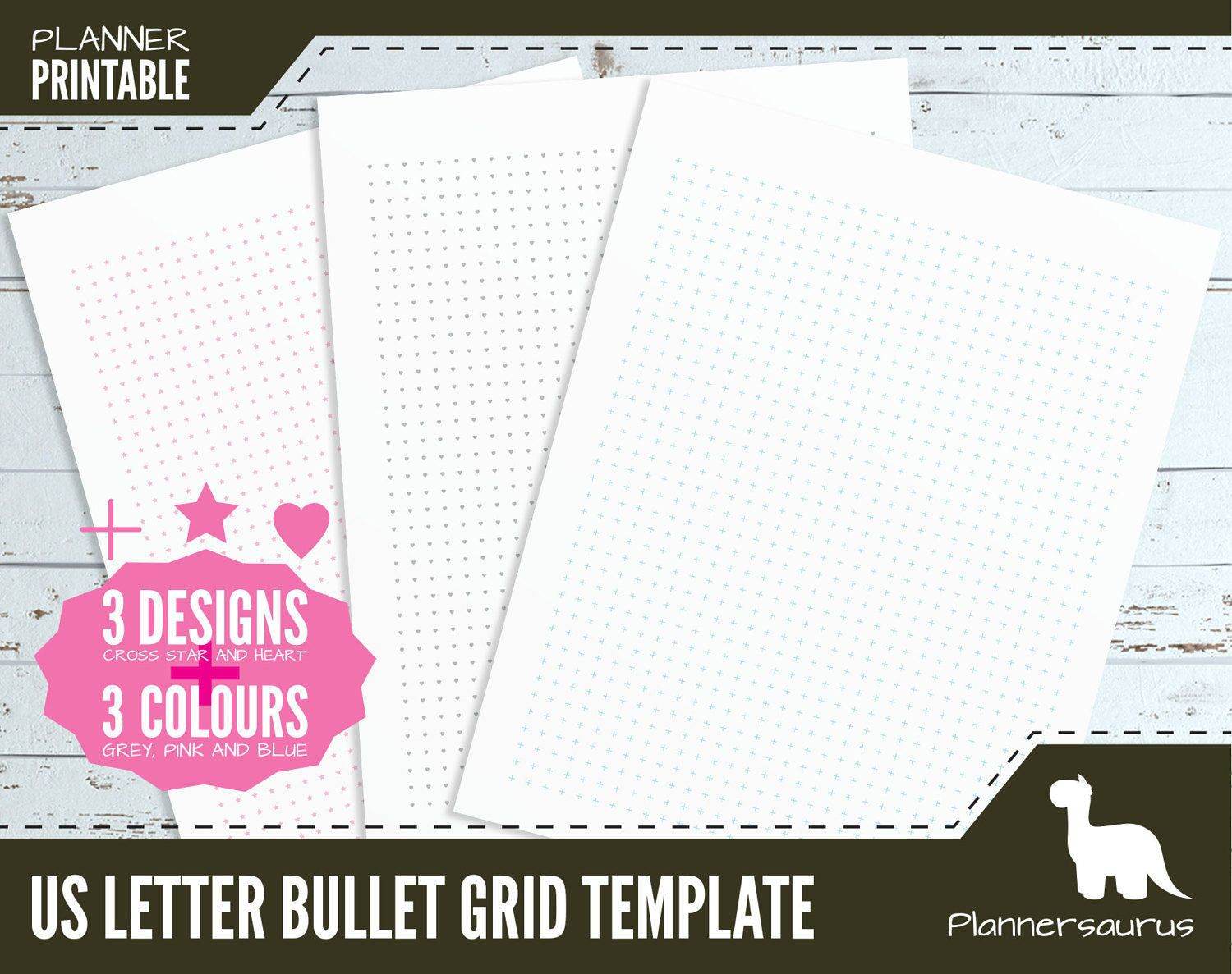 Us Letter Dot Grid Planner Paper Printable  Bullet Journal  Bujo