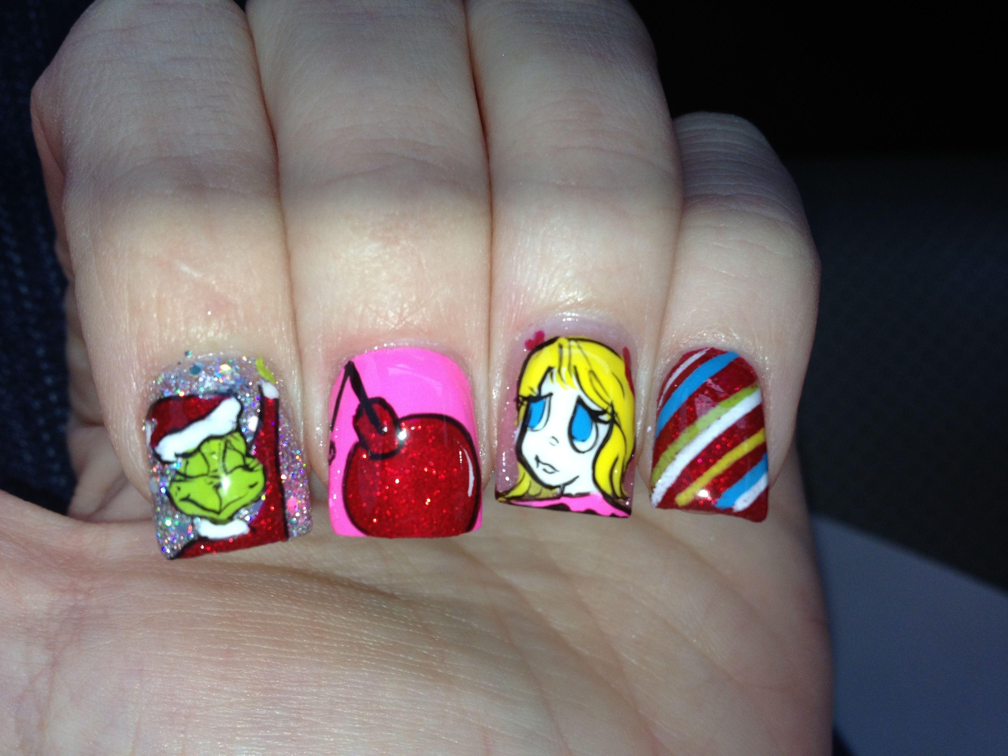 Grinch Nails | Nailspiration | Pinterest | Grinch and Nail nail