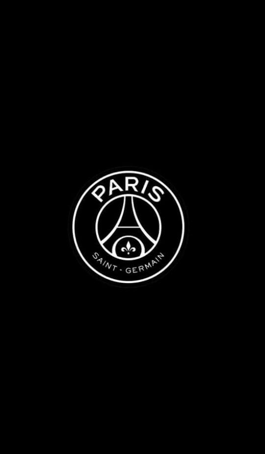 psg black logo iphone wallpaper